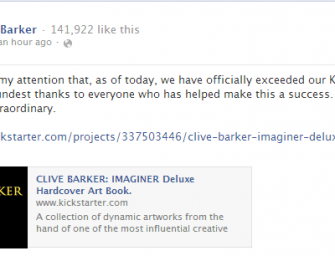 "Breaking: ""Clive Barker: Imaginer"" Achieves Kickstarter Goal"