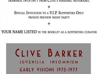 Clive Barker Imaginer Art Book, Second Stretch Goal!