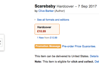 New Clive Barker Novel on the Way — Scarebaby!