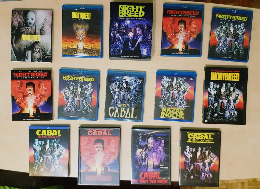 The many faces of Nightbreed - All Blu-ray and DVD releases