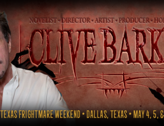 Clive Barker is Coming to Texas Frightmare 2018